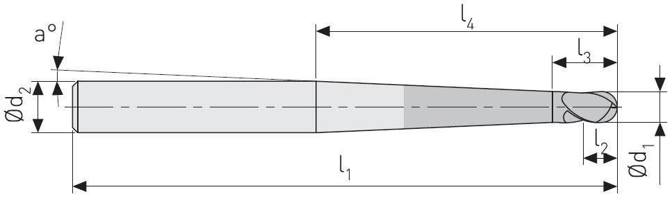 FK602 - Küresel Karbür Freze, Ekstra Uzun